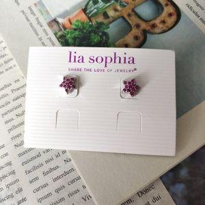 Lia Sophia Pave Star Stud Earrings